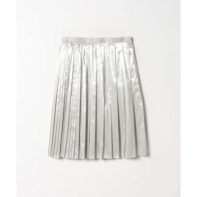 LANVIN COLLECTION / ランバン コレクション ラメタフタプリーツスカート