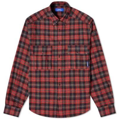 ラスベート PACCBET メンズ シャツ フランネルシャツ トップス Flannel Shirt Red
