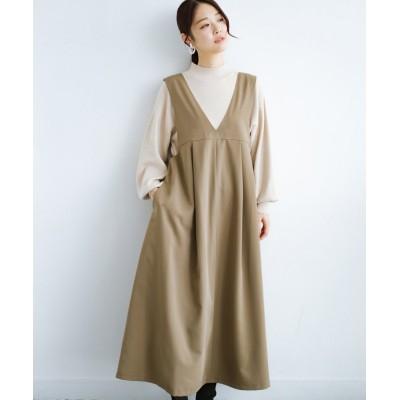 (haco!/ハコ)長め丈登場!Tシャツにもニットにもずーーーっと着られて便利なジャンパースカート/レディース ベージュ