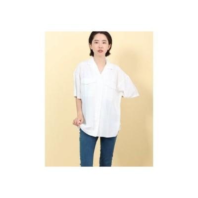 ジーラ GeeRA ゆるシルエットカイキンシャツ (オフホワイト)