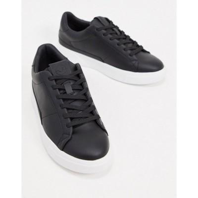 プルアンドベア メンズ スニーカー シューズ Pull&Bear sneakers in black Black
