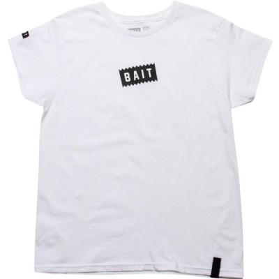 BAIT レディース Tシャツ ロゴTシャツ トップス Slanted Box Logo Tee white