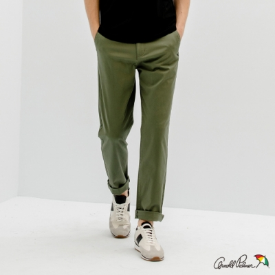 Arnold Palmer -男裝-基本斜紋長褲-綠色