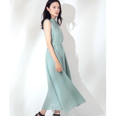 ANAYI/アナイ ソフトラミーテントラインワンピース ミントグリーン 38