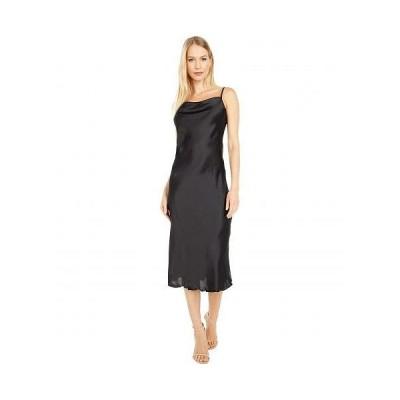 Bebe べべ レディース 女性用 ファッション ドレス Satin Slip Dress - Black
