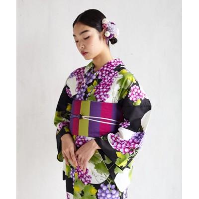 【ふりふ】 浴衣「Natural Furifu(ナチュラルふりふ)」/ 浴衣・夏・花火・祭 ユニセックス パープル FREE FURIFU