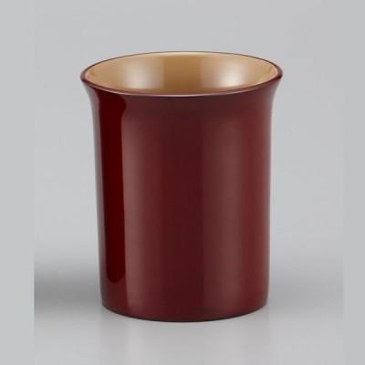 輪島塗 フリーカップ 無地 外本朱内白 呂色仕上げ   紙箱入り