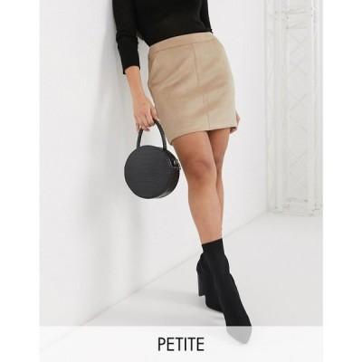 ヴェロモーダ Vero Moda Petite レディース ミニスカート スカート mini skirt in tan faux suede タン
