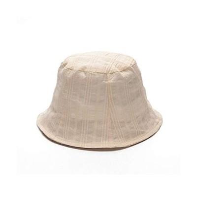 [TaiShan] レディース の太陽の帽子アンチスリム超薄型カバー顔ニッチ漁師帽子甘い夏のバケットハット 小顔効?