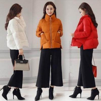 中綿コート レディース 中綿 ジャケット コート アウター 無地 冬物 長袖 きれいめ 暖かく 防寒