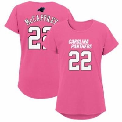 Outerstuff アウタースタッフ スポーツ用品  Christian McCaffrey Carolina Panthers Girls Youth Pink Dolman Mainliner Name & Number