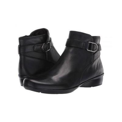 Naturalizer ナチュラライザー レディース 女性用 シューズ 靴 ブーツ アンクル ショートブーツ Colette - Black Leather