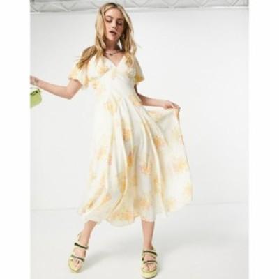 フリーピープル Free People レディース ワンピース マキシ丈 ワンピース・ドレス laura printed maxi tea dress in vintage floral ティ