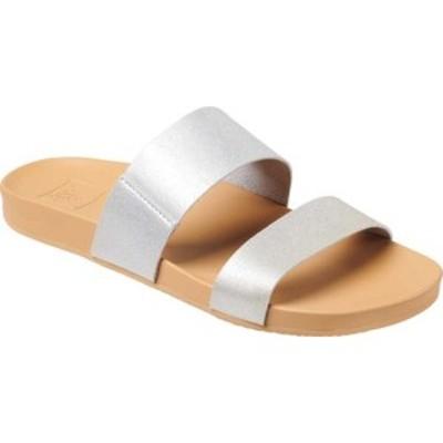 リーフ レディース サンダル シューズ Cushion Vista Slide Silver Synthetic
