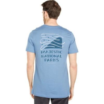 パークスプロジェクト Parks Project メンズ Tシャツ トップス Majestic Parks Tee Blue Steel