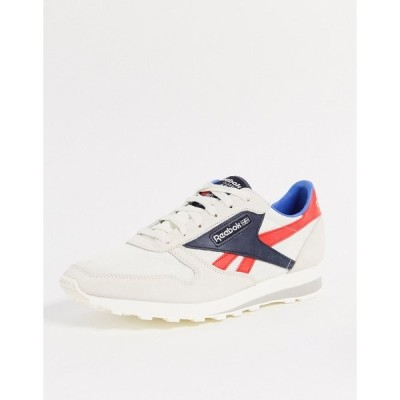 リーボック メンズ スニーカー シューズ Reebok Classics leather AZ sneakers in chalk Off white