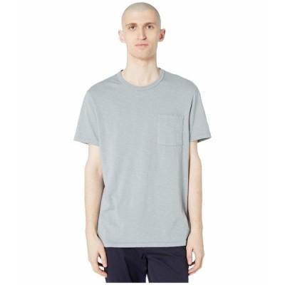 ジェイクルー シャツ トップス メンズ Garment-Dyed Slub Cotton Crewneck T-Shirt Slate Blue