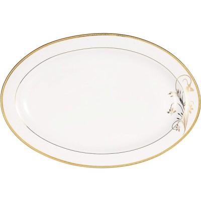 Lorren Home Trends La Luna Bone China 57-Piece 24K Gold Floral Design