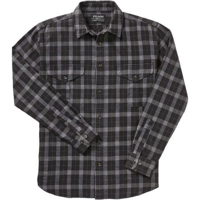 フィルソン シャツ メンズ トップス Lightweight Alaskan Guide Shirt - Men's Heather Black