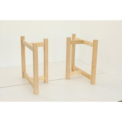 テーブル脚 HRMシリーズ 木製脚 HRMO1 D700 300x700x650 ナチュラル(クリ 栗ア) ウレタン塗装