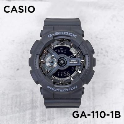 10年保証 CASIO G-SHOCK カシオ Gショック GA-110-1B 腕時計 時計 ブランド メンズ キッズ 子供 男の子 アナデジ 日付 カレンダー 防水 ブラック 黒