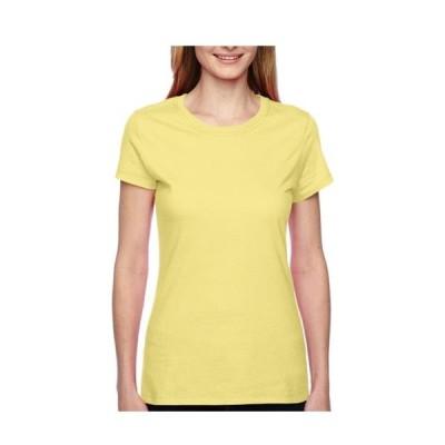レディース 衣類 トップス Fruit Of The Loom Women's Side Seamed Taping T-Shirt Style SFJR Tシャツ
