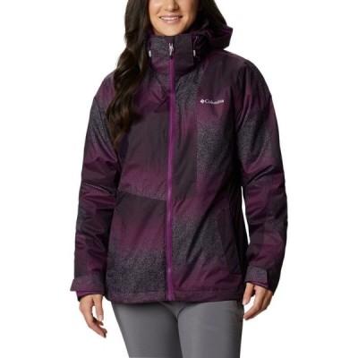 コロンビア Columbia レディース スキー・スノーボード ジャケット アウター Ruby River Interchange 3-in-1 Jacket Plum Spotty Ombre Print