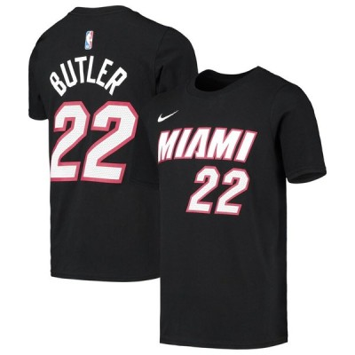 Jimmy Butler マイアミ・ヒート Nike Youth 少年用 Icon Edition Name & Number Performance T-シャツ - Black