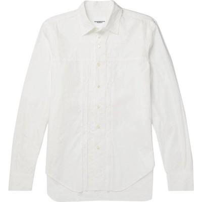 タカヒロミヤシタザソロイスト TAKAHIROMIYASHITA THESOLOIST. メンズ シャツ トップス solid color shirt White