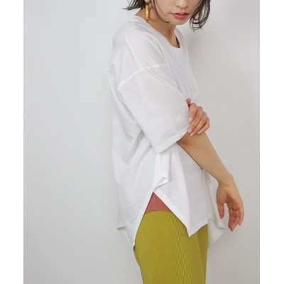 tシャツ Tシャツ シルケットアシメノットプルオーバー