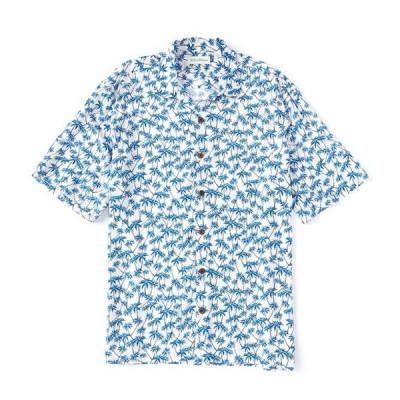 カリビアン メンズ シャツ トップス Palm Tree Print Short-Sleeve Woven Camp Shirt