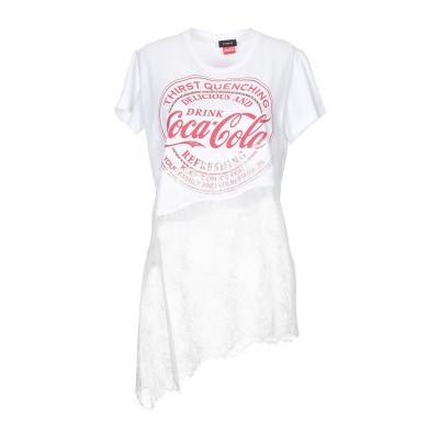 ピンコ PINKO T シャツ ホワイト XS コットン 100% / ナイロン / ガラス / アルミニウム T シャツ