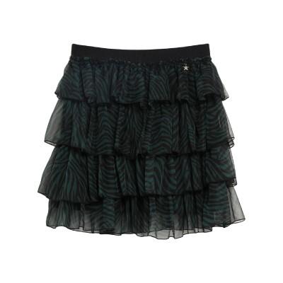 スーベニア SOUVENIR ひざ丈スカート ダークグリーン S ポリエステル 100% ひざ丈スカート
