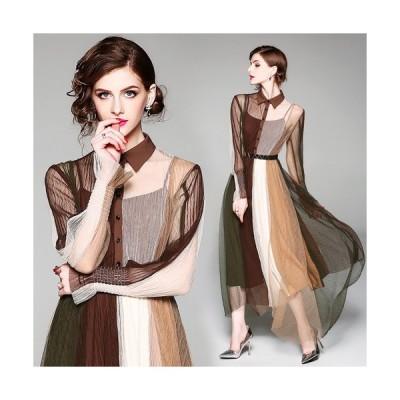 ドレス 結婚式 お呼ばれ ミモレ丈 大きいサイズ ドレス パーティー 結婚式 チュールドレス 刺繍 袖ありS/M/L/XL/XXL