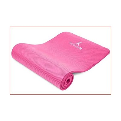 """ProsourceFit Extra Thick Yoga and Pilates Mat 1/2"""" - Pink【並行輸入品】"""