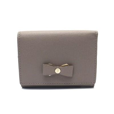 フルラ 財布 アウトレット 三つ折り財布 1041708 FURLA 保存袋付  SABBIA グレー