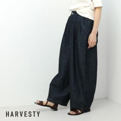 ハーベスティ HARVESTY サーカスパンツ デニム [98.ワンウォッシュ] A11801 18春夏 ワイドパンツ 日本製
