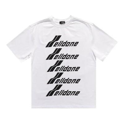 【送料無料】WE11DONE ウェルダン WELLDONE FRONT LOGO Tシャツ 半袖 OVERSIZE クルーネック 男女兼用