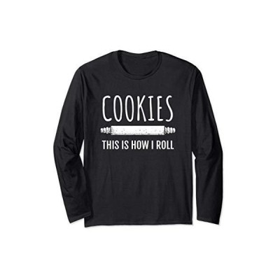 クッキーを焼く人のための面白いデザイン 長袖Tシャツ