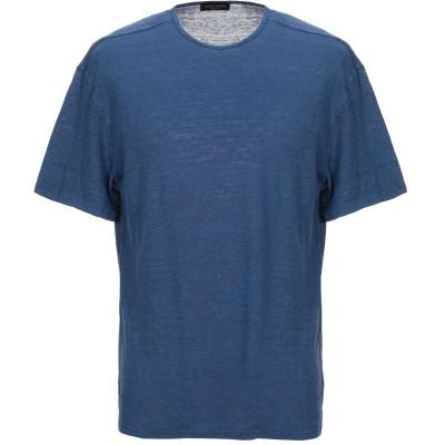 ロベルト コリーナ ROBERTO COLLINA T シャツ ブルーグレー 46 リネン 70% / 指定外繊維(テンセル)® 30% T シャツ
