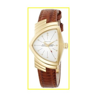 新品   H24101511 Hamilton Ventura Womens Watch Rose Gold PVD Case White Dial Brown Leather NEW  並行輸入品