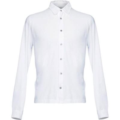 アルファス テューディオ ALPHA STUDIO メンズ シャツ トップス solid color shirt White