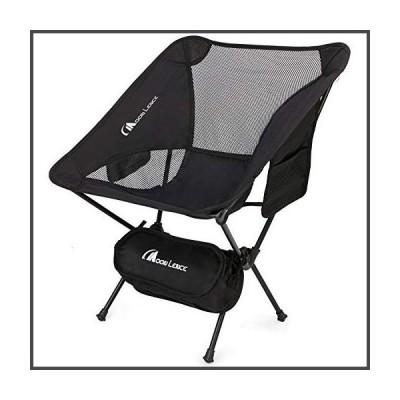 MOON LENCE Outdoor Ultralight Portable Folding Chairs with Carry Bag Heavy Duty 242lbs Capacity Camping Folding Chairs Beach Chairs (Black)[