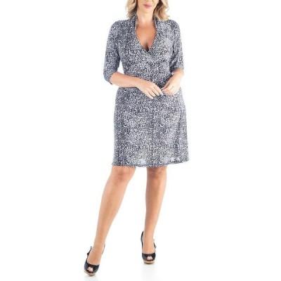 24セブンコンフォート ワンピース トップス レディース Women's Plus Size Leopard Print A-Line Dress Multi