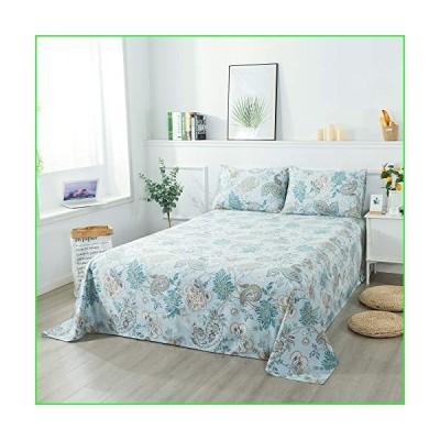 Softta Vintage Queen Size Flower Leaves Paisley Pattern 4Pcs Deep Pocket Bed Sheet Set Boho Bedding Set 100% Egyptian Cotton Bedroom Bedding