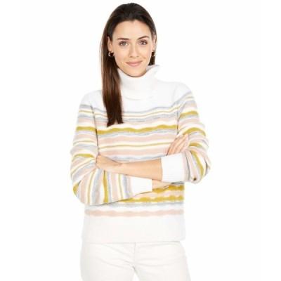 リラピー ニット&セーター アウター レディース Full Sleeve Multicolor Turtleneck Sweater Ivory Multi