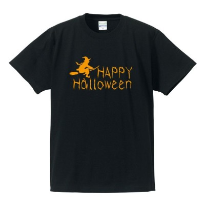 ゆうパケット発送対応★ハロウィンTシャツ 「魔女のHappy Halloween」 ハロウィーン/半袖/tshirts/サイズS〜XL