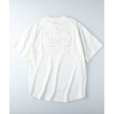 (CAMP7/キャンプセブン)キャンプ7 エンボスロゴTシャツ/レディース ホワイト
