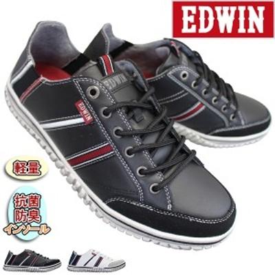 エドウィン EDW-7555 メンズ スリッポン キックバックスニーカー 2WAYシューズ 軽量 EDWIN