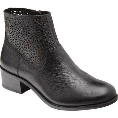 バイオニック Vionic レディース ブーツ ショートブーツ シューズ・靴 Luciana Ankle Boot Perforated Black Tumbled Leather
